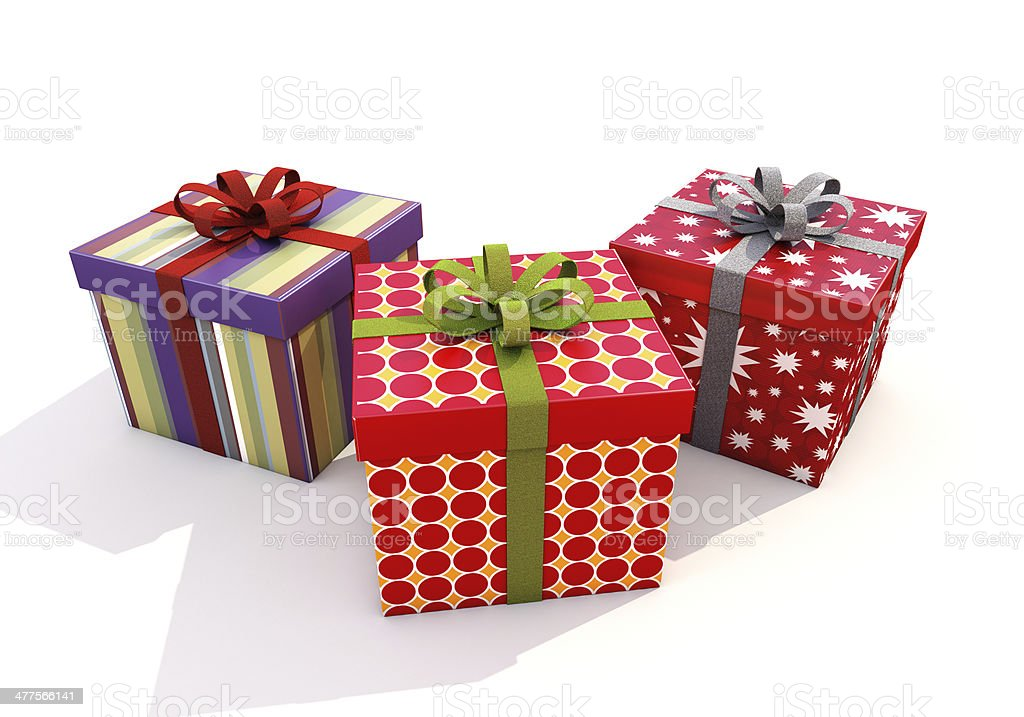 Gifts with ribbons stock photo