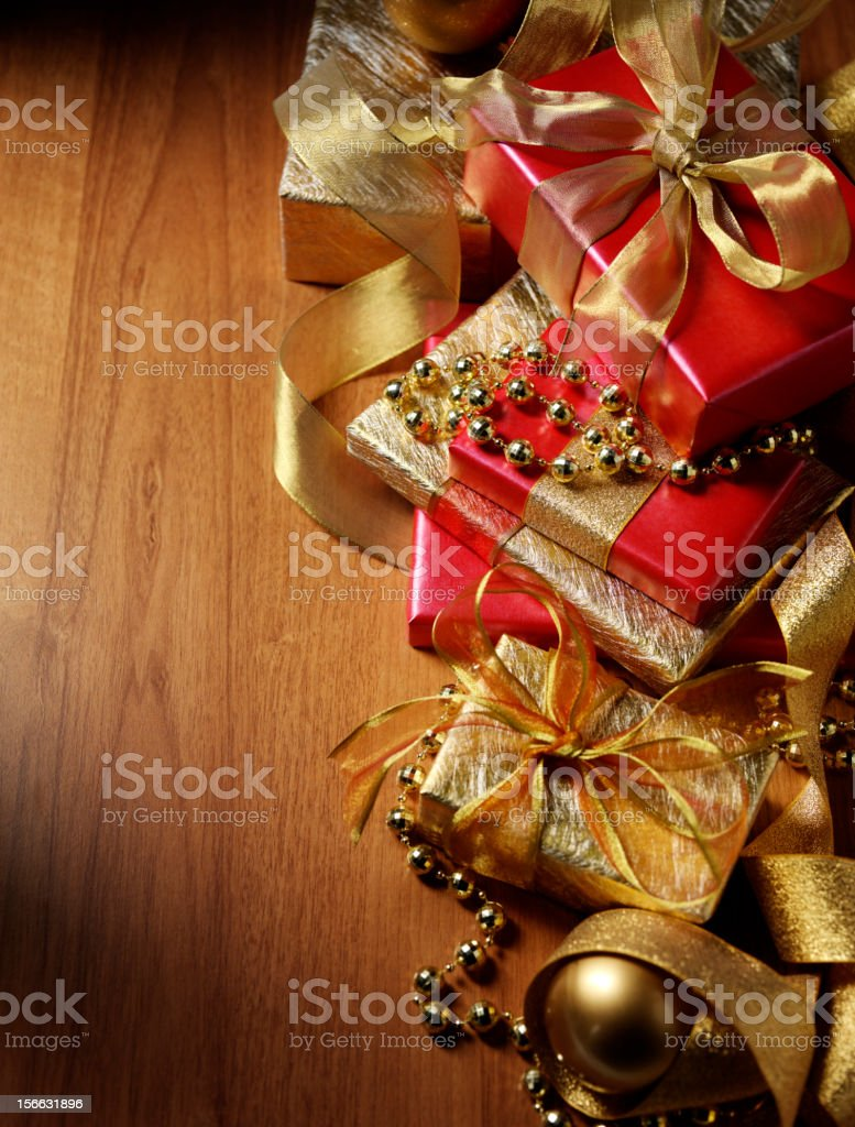 Gifts Wrapped up for Christmas royalty-free stock photo