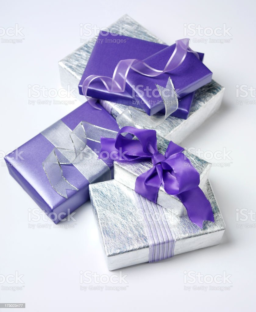 Gifts Wrapped Up royalty-free stock photo