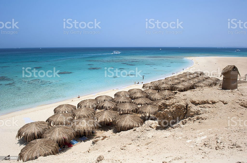 Giftun Island beach stock photo
