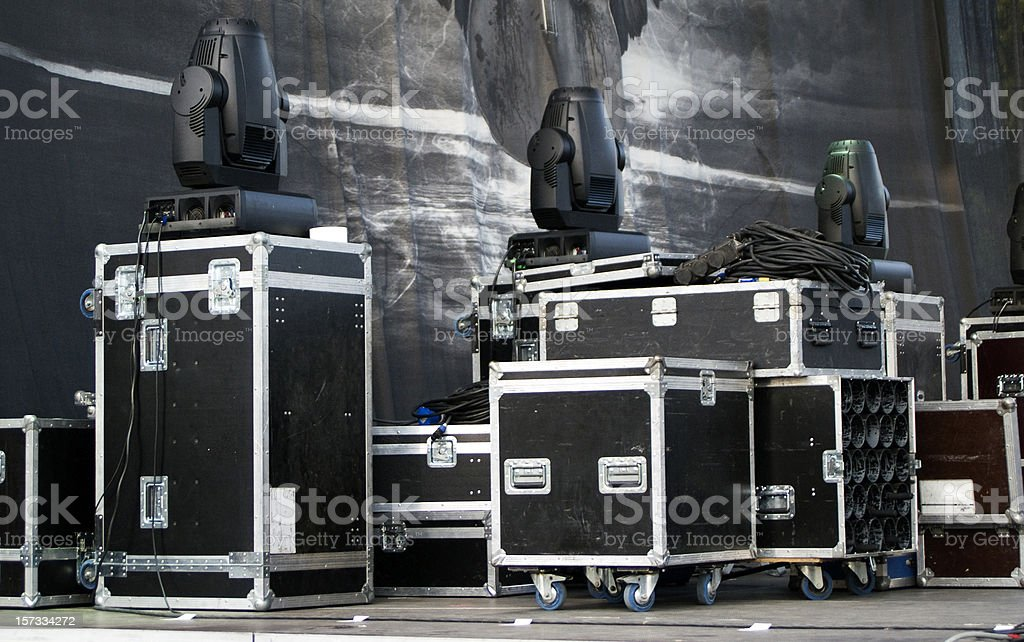 gig stage stock photo
