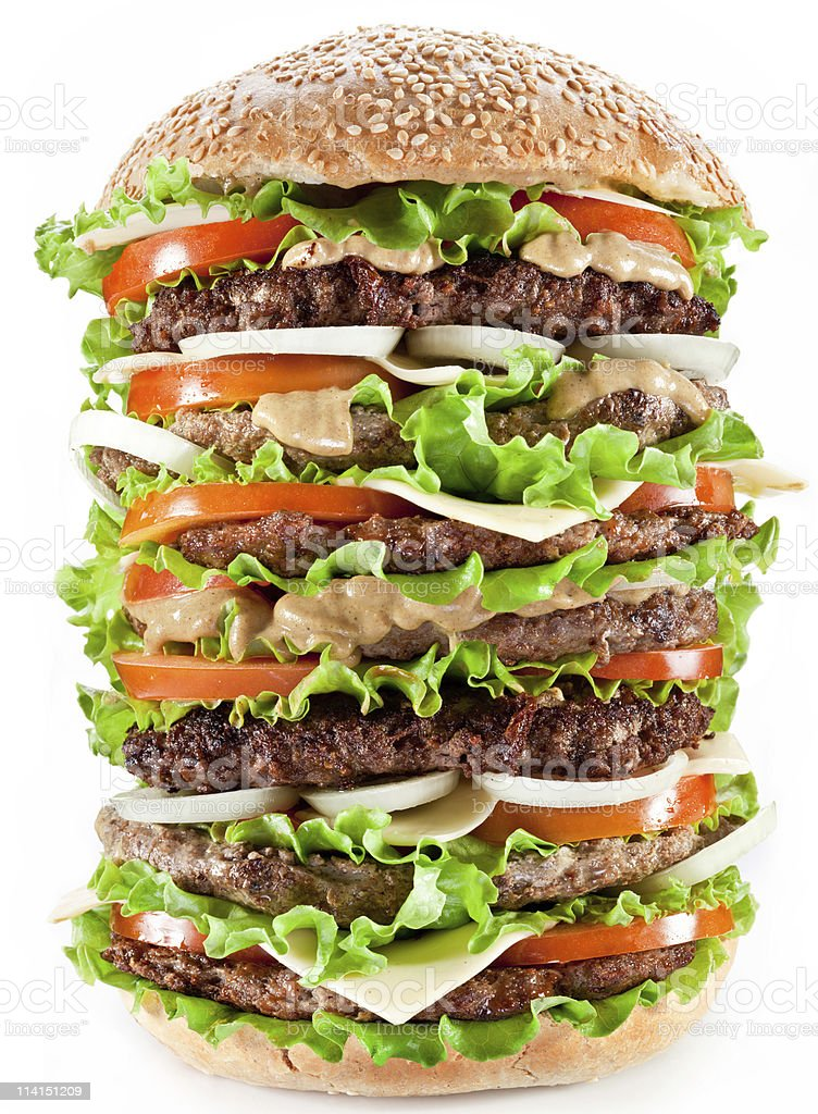 Gigantic hamburger royalty-free stock photo