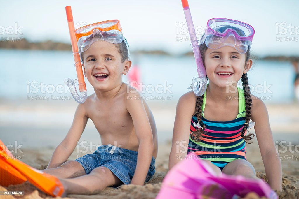 Giggling Together on Vacation in Hawaii stock photo