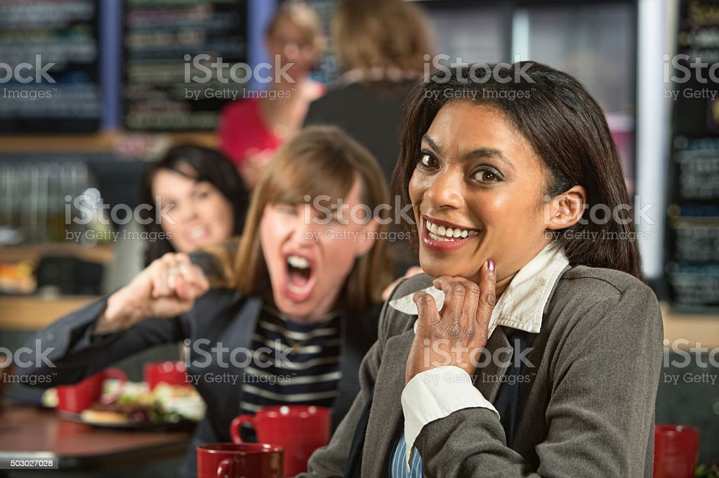Giggling Woman stock photo