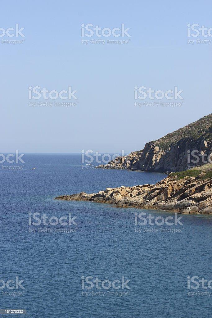 Giglio Island Rocks royalty-free stock photo