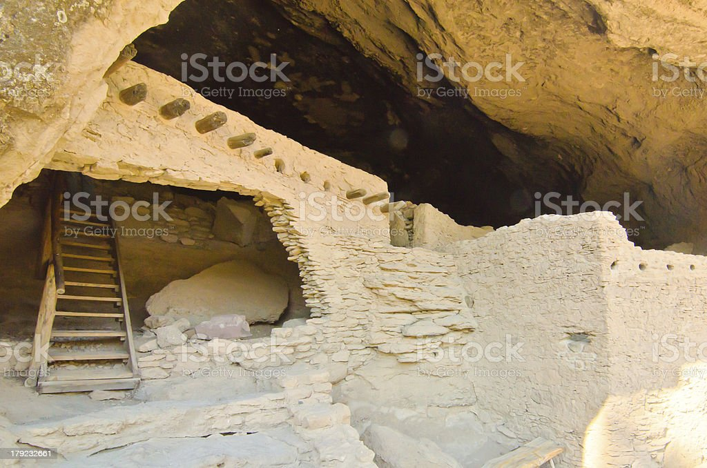 Gila Cliff Dwellings in New Mexico royalty-free stock photo