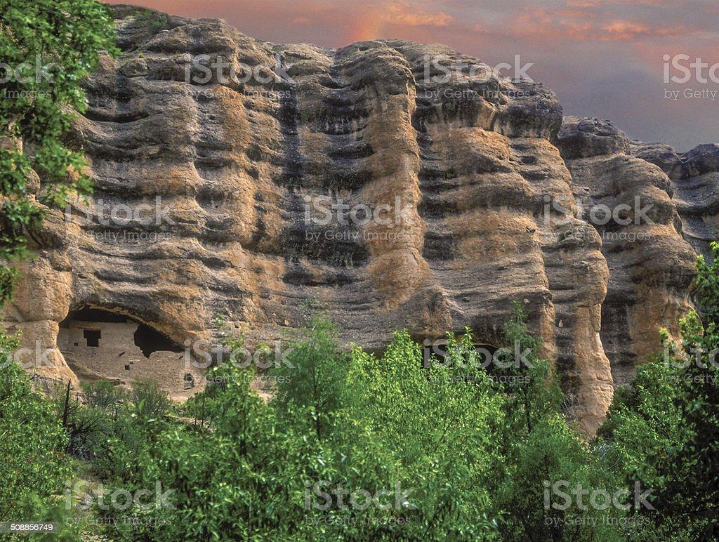 Gila Cliff Dwellings stock photo
