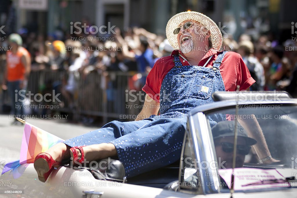 Gilbert Baker at S.F. Pride royalty-free stock photo