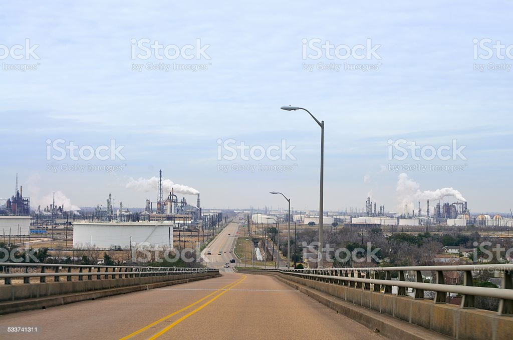 Gilchrist Texas Oil Refinery stock photo