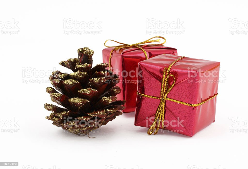 gilded cone and gifts royalty-free stock photo