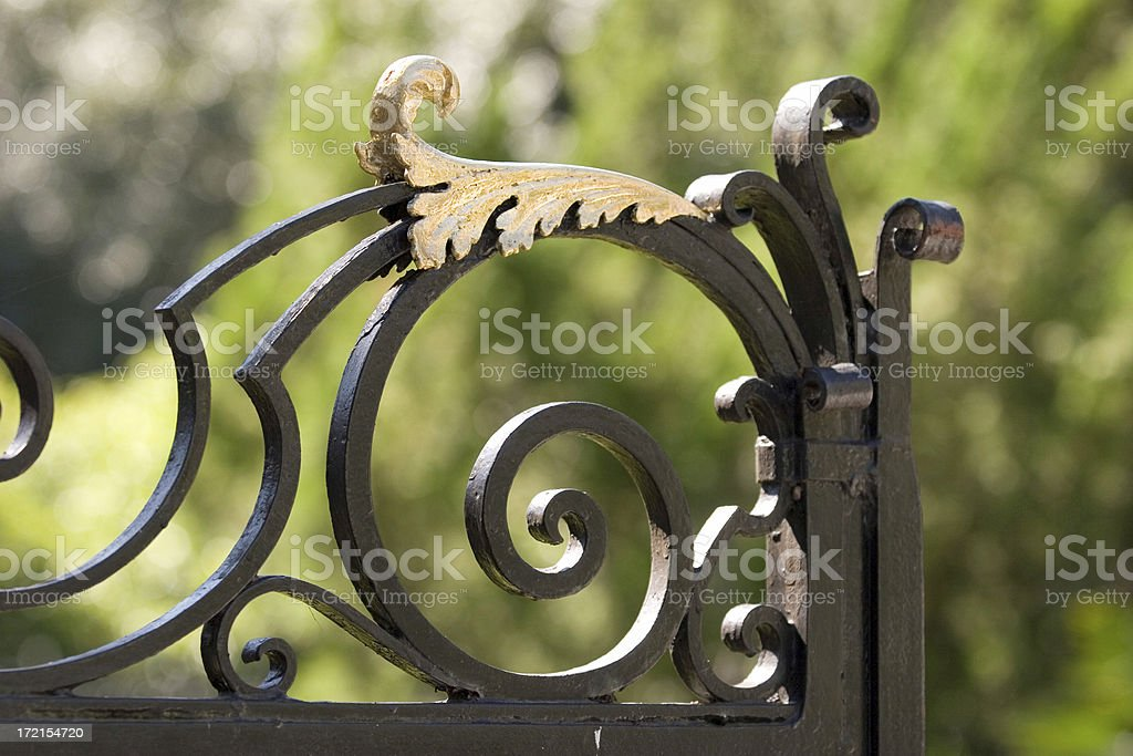 Gilded Fence (Detail) royalty-free stock photo