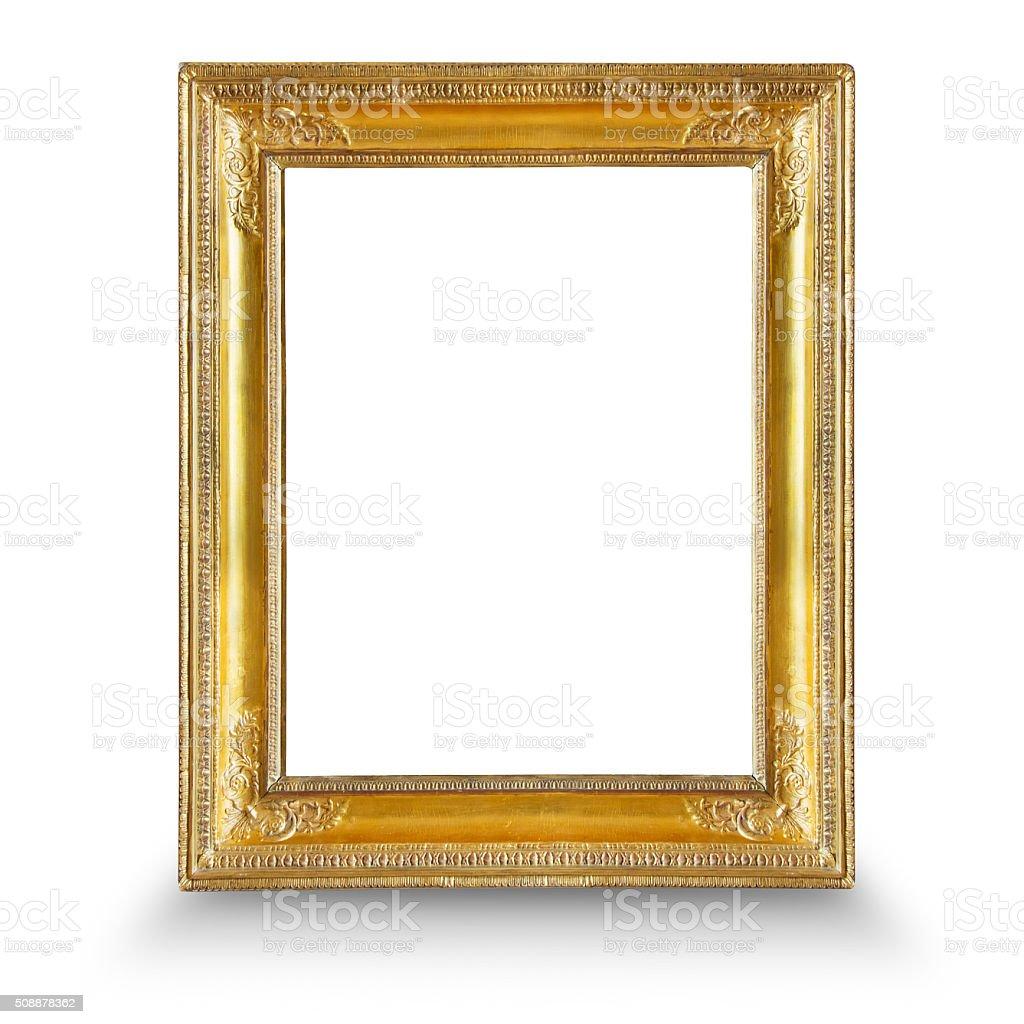 gilded frame stock photo