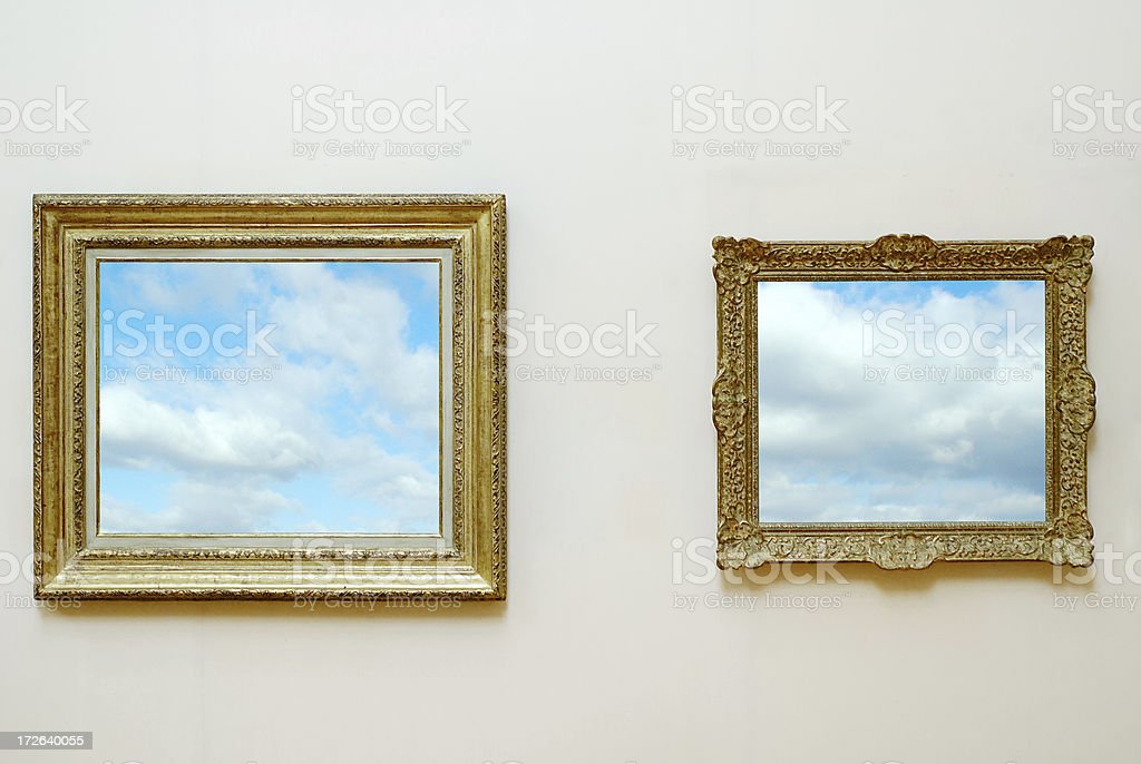 gilded frames 19th century royalty-free stock photo