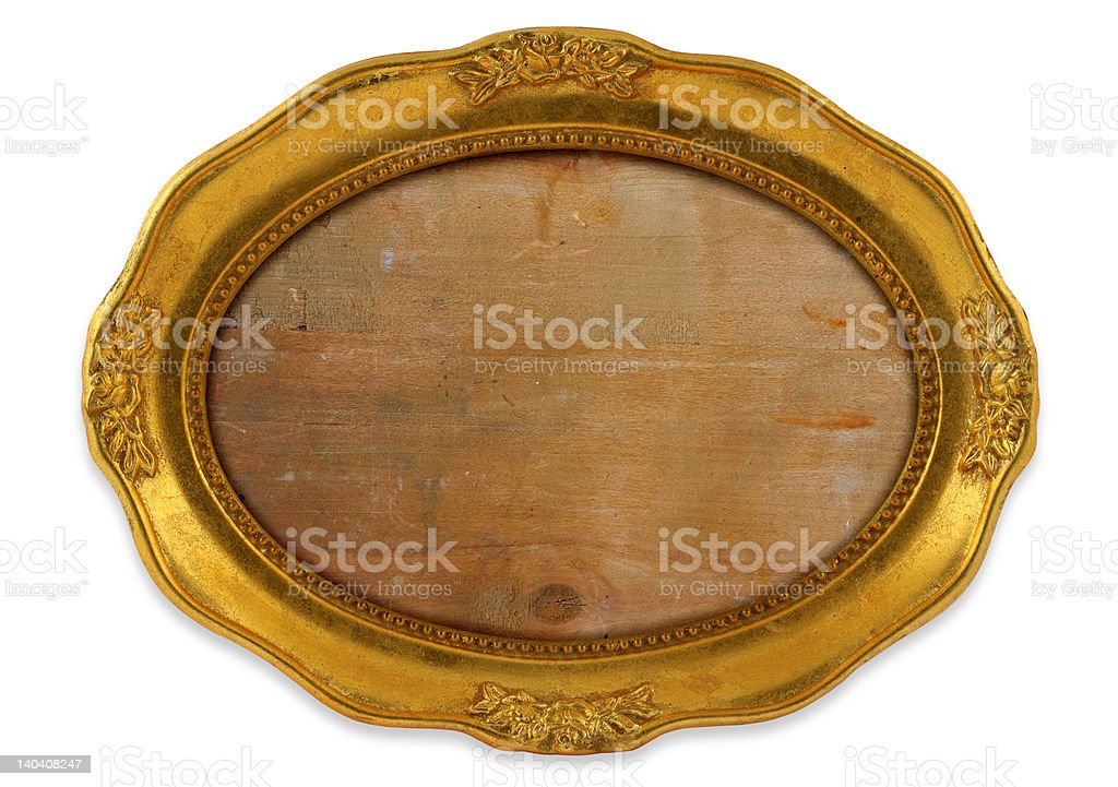 gilded oval frame royalty-free stock photo
