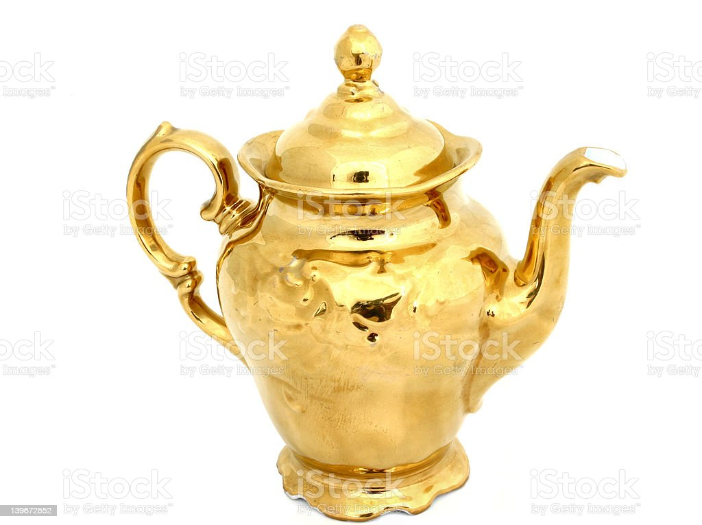 gilded pitcher royalty-free stock photo