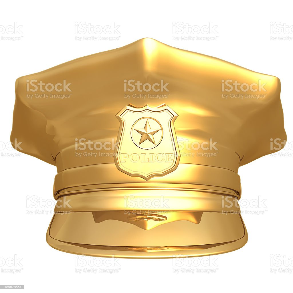 Gilded Police Cap 01 royalty-free stock photo