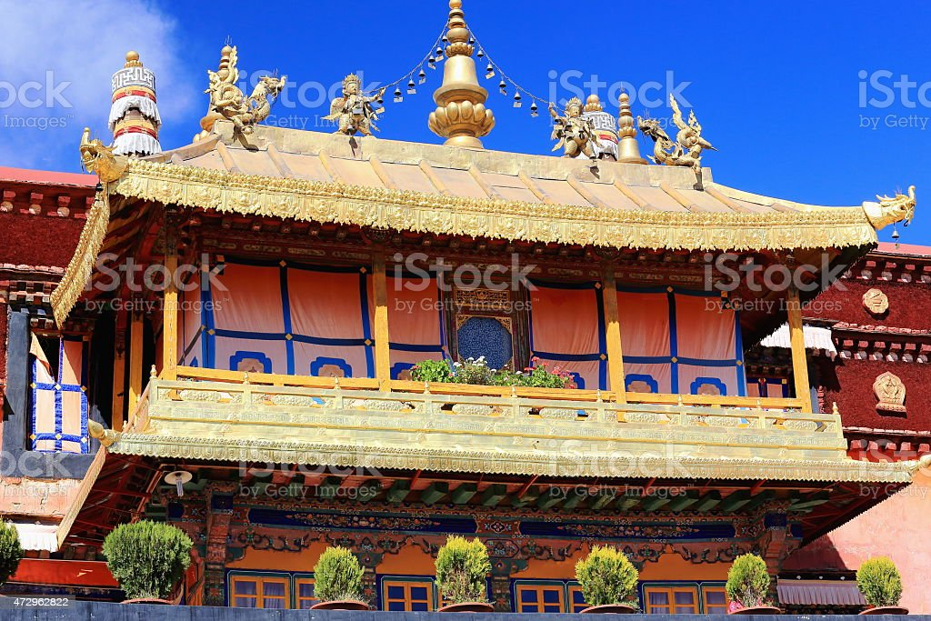 Gilded roofs. Jokhang temple-Lhasa-Tibet. 1413 stock photo
