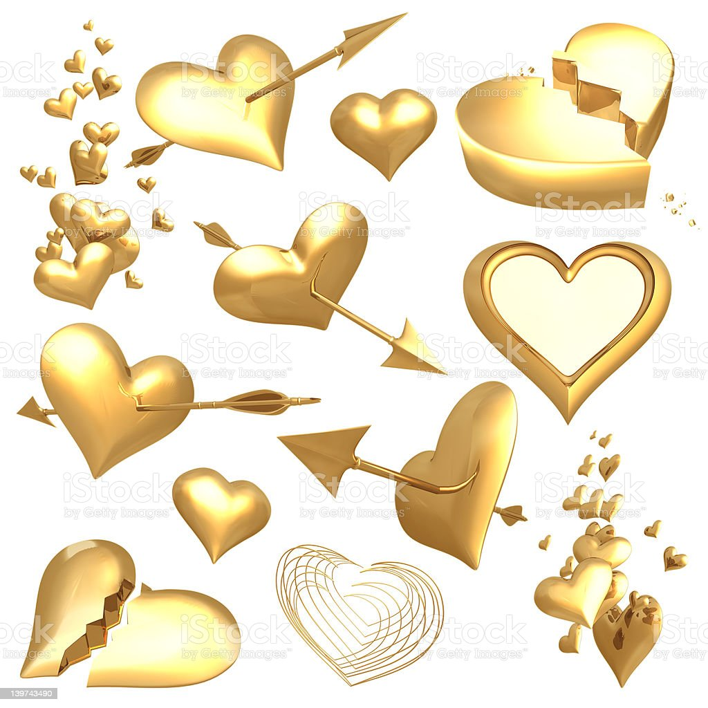 Gilded Valentines 01 royalty-free stock photo