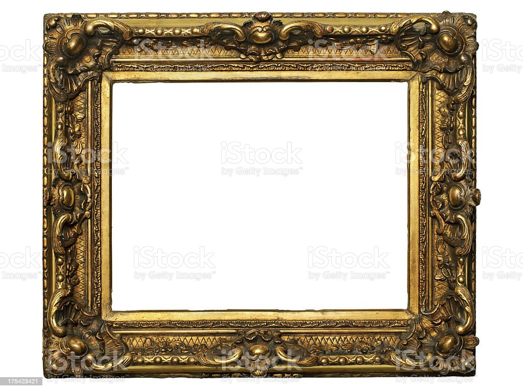 Gilded Wooden Frame stock photo