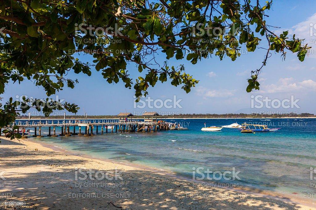 Gili Islands in Lombok, Indonesia stock photo