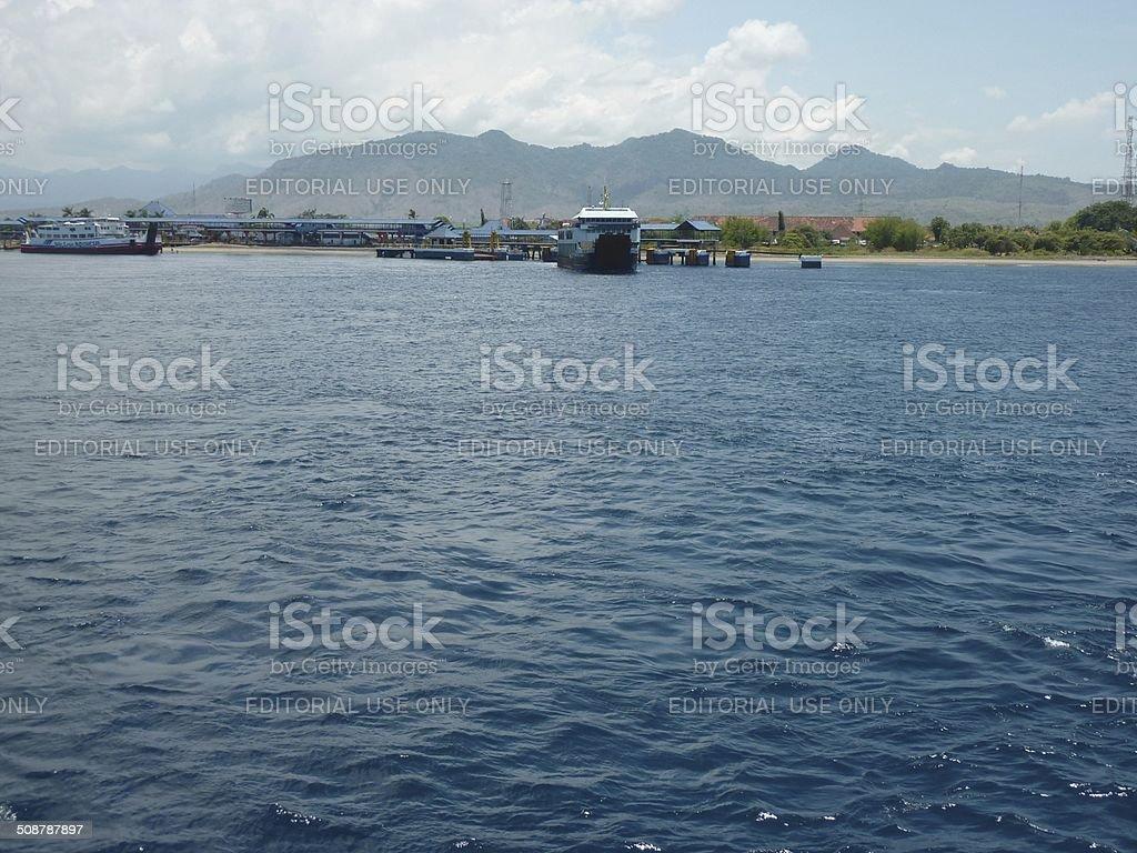 Gilimanuk port, Bali - Indonesia stock photo