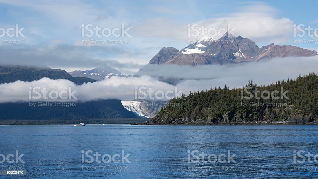 Gill Net Fishing in Southeast Alaska stock photo