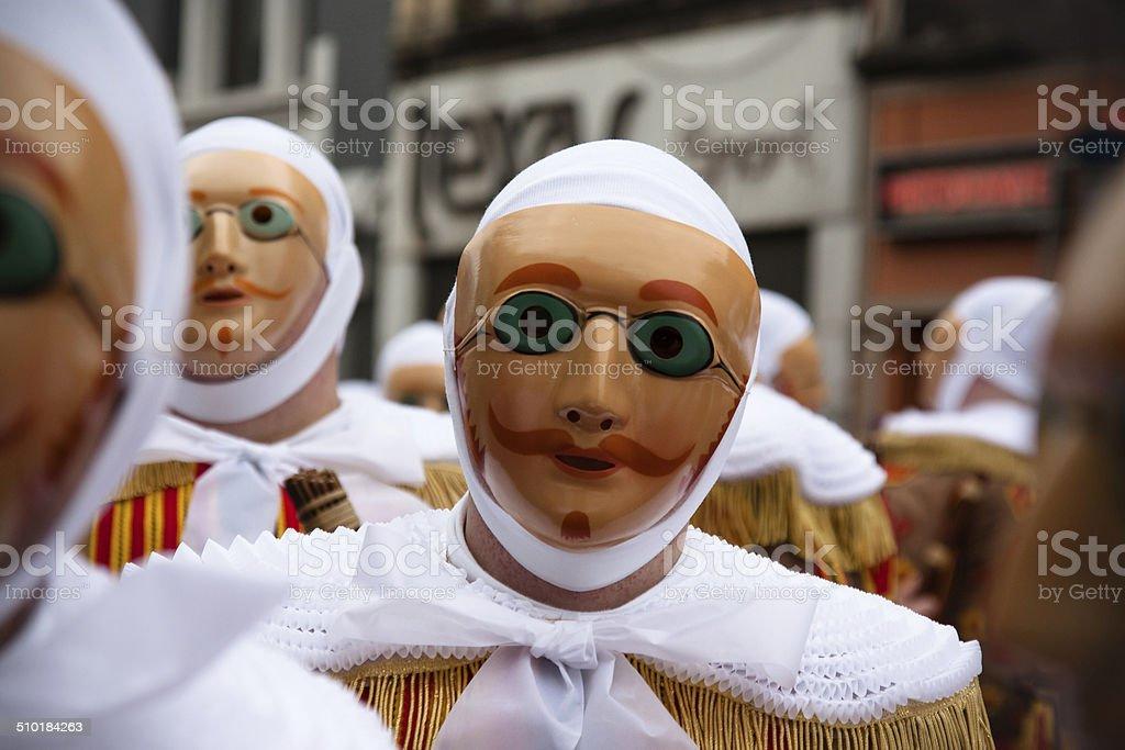 Gille in einem belgischen carnival Lizenzfreies stock-foto