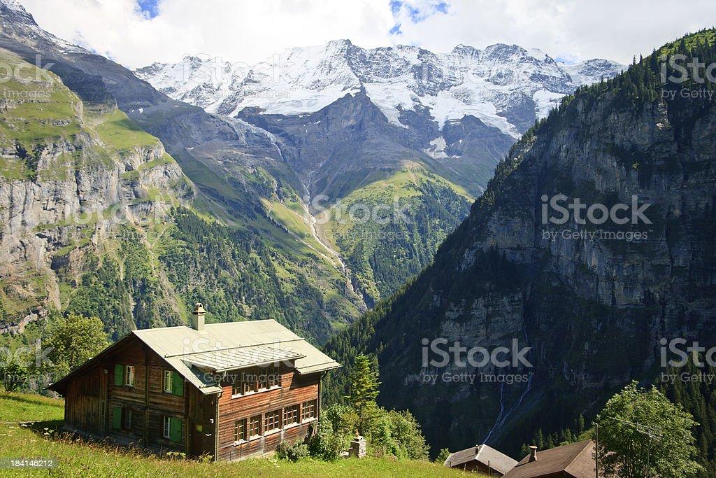 Gimmelwald, Switzerland stock photo