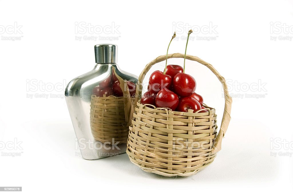 Gin and Cherry royalty-free stock photo