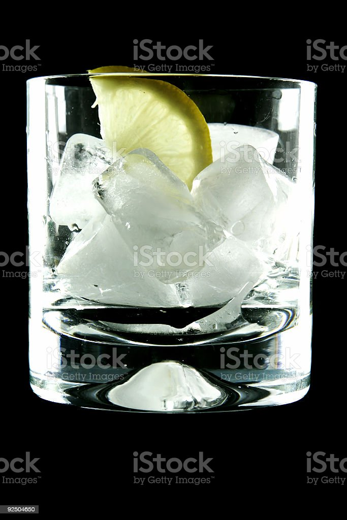 Gin and tonic glass royalty-free stock photo