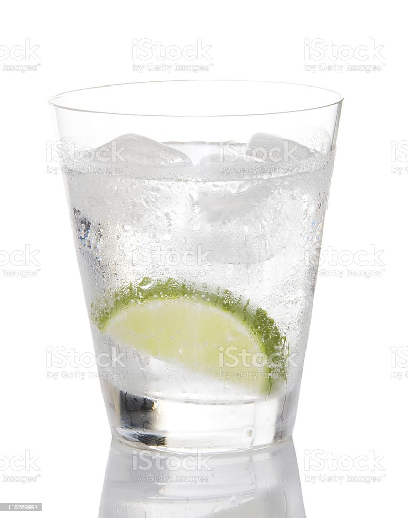 Gin And Tonic With Lime royalty-free stock photo