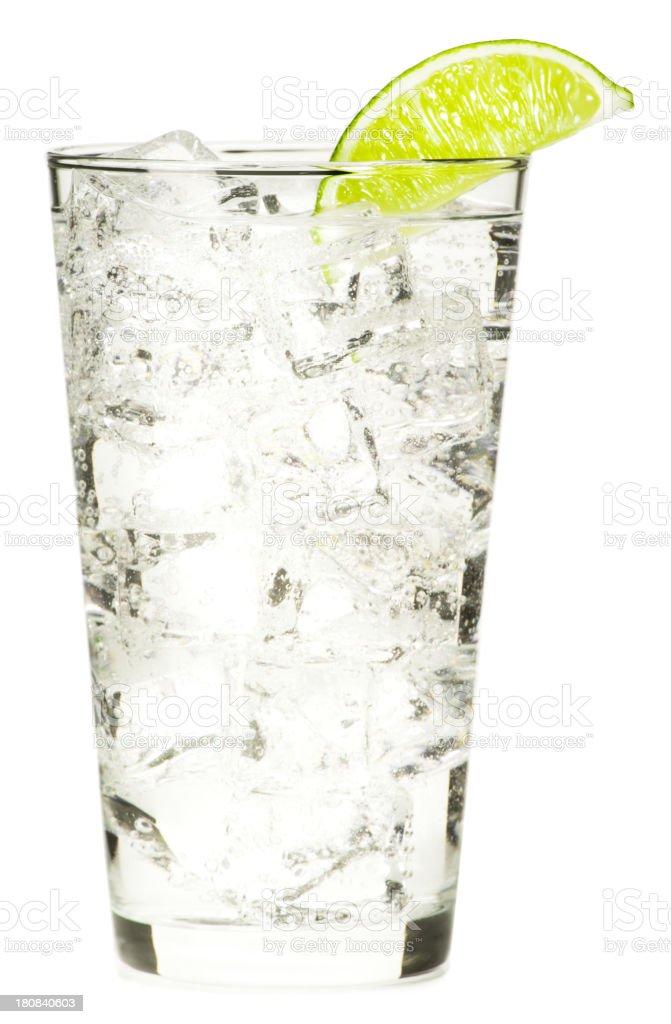 Gin and Vodka Tonic Lemonade Isolated on White Background stock photo