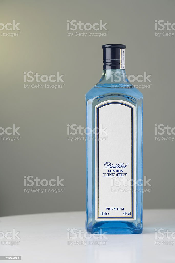 Gin Bottle With Space for Text stock photo