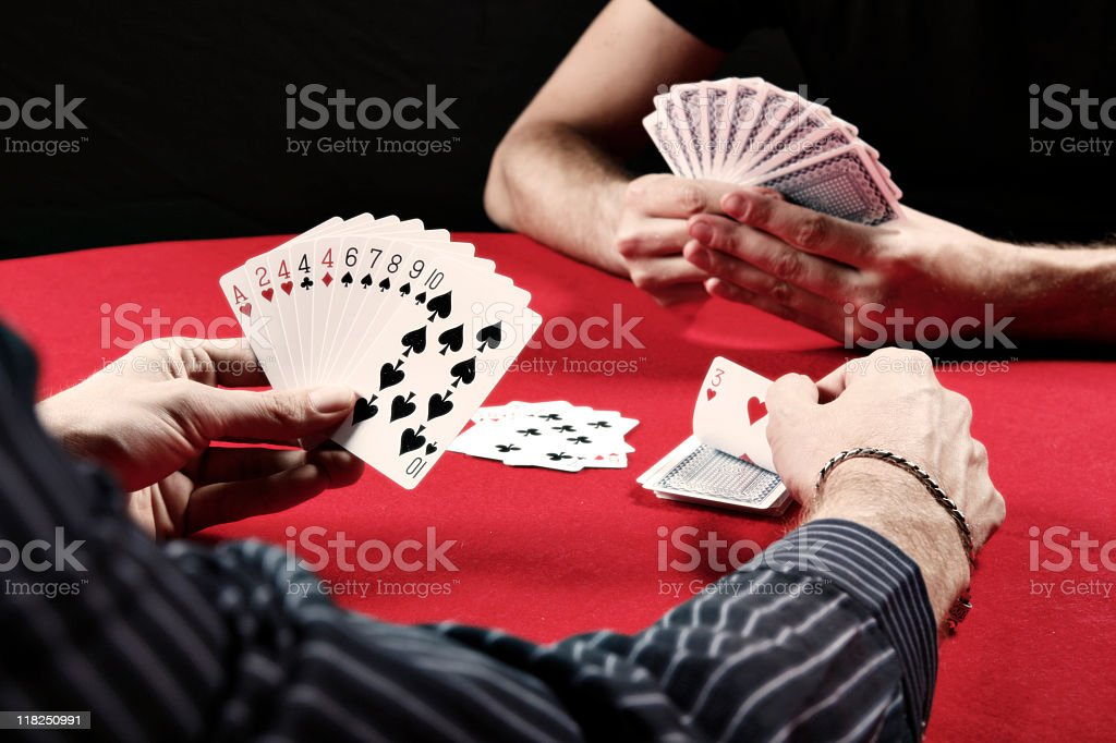Gin Rummy royalty-free stock photo