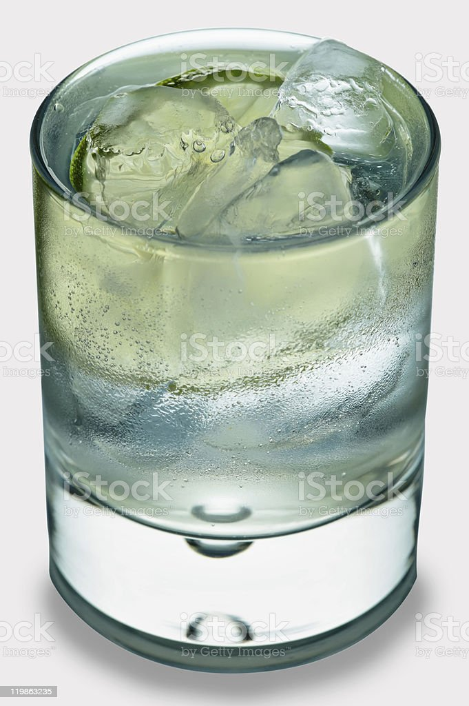 Gin tonic on white royalty-free stock photo