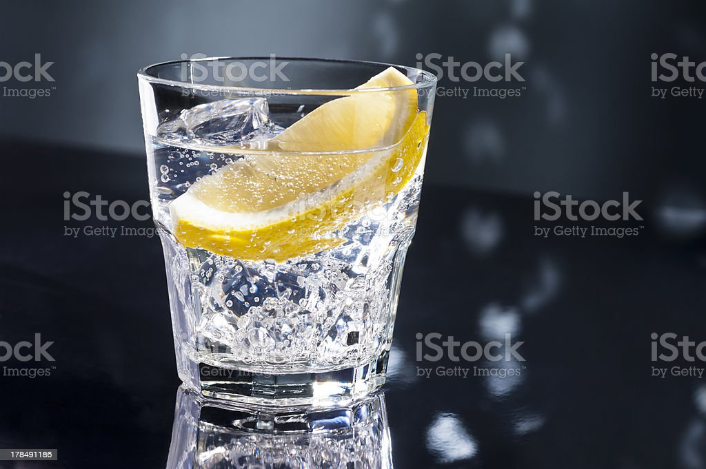 Gin Tonic or Tom Collins stock photo
