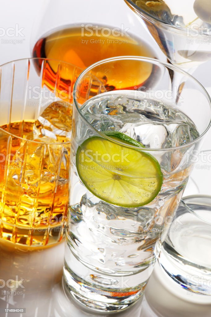Gin & Tonic royalty-free stock photo