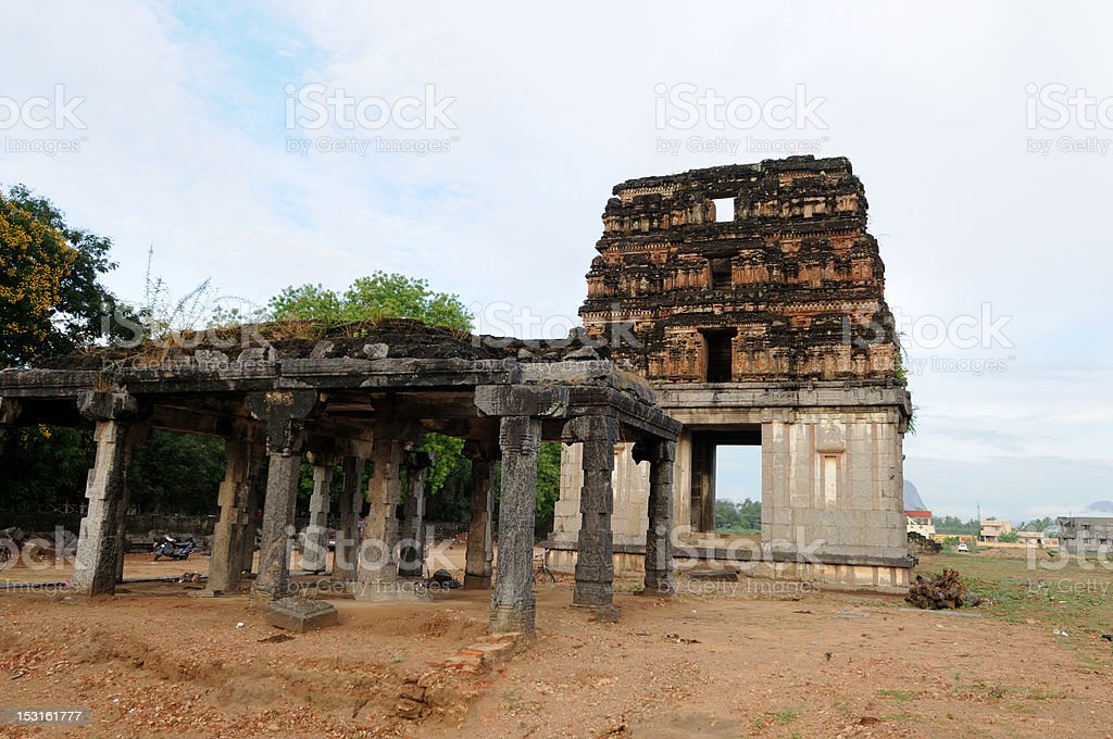 Gingee Fort stock photo