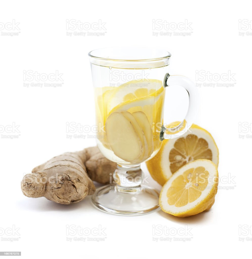 Ginger and lemon drink royalty-free stock photo