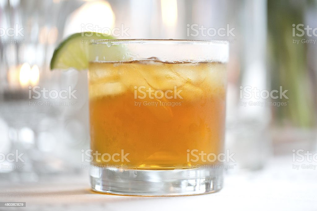Ginger Beer Cocktail stock photo