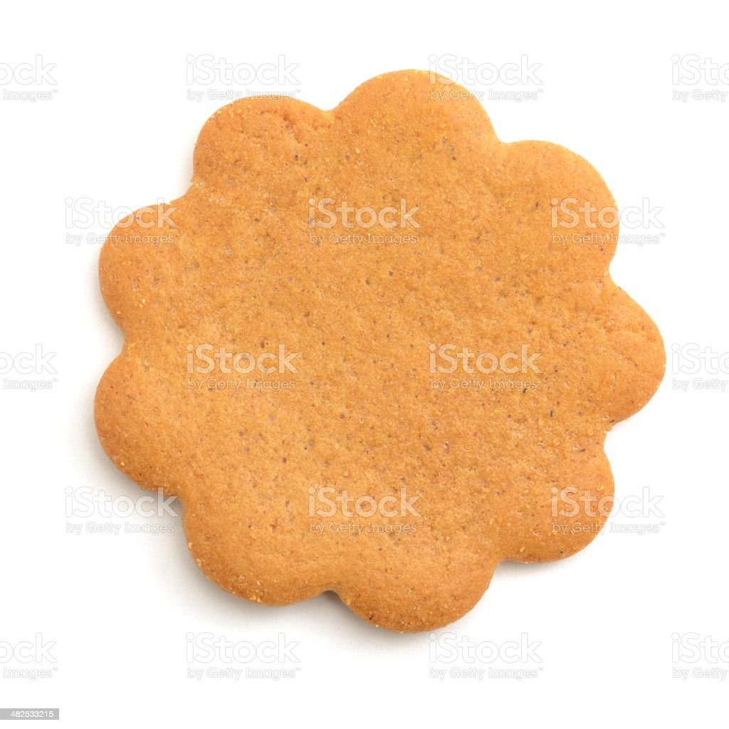 Ginger biscuit stock photo