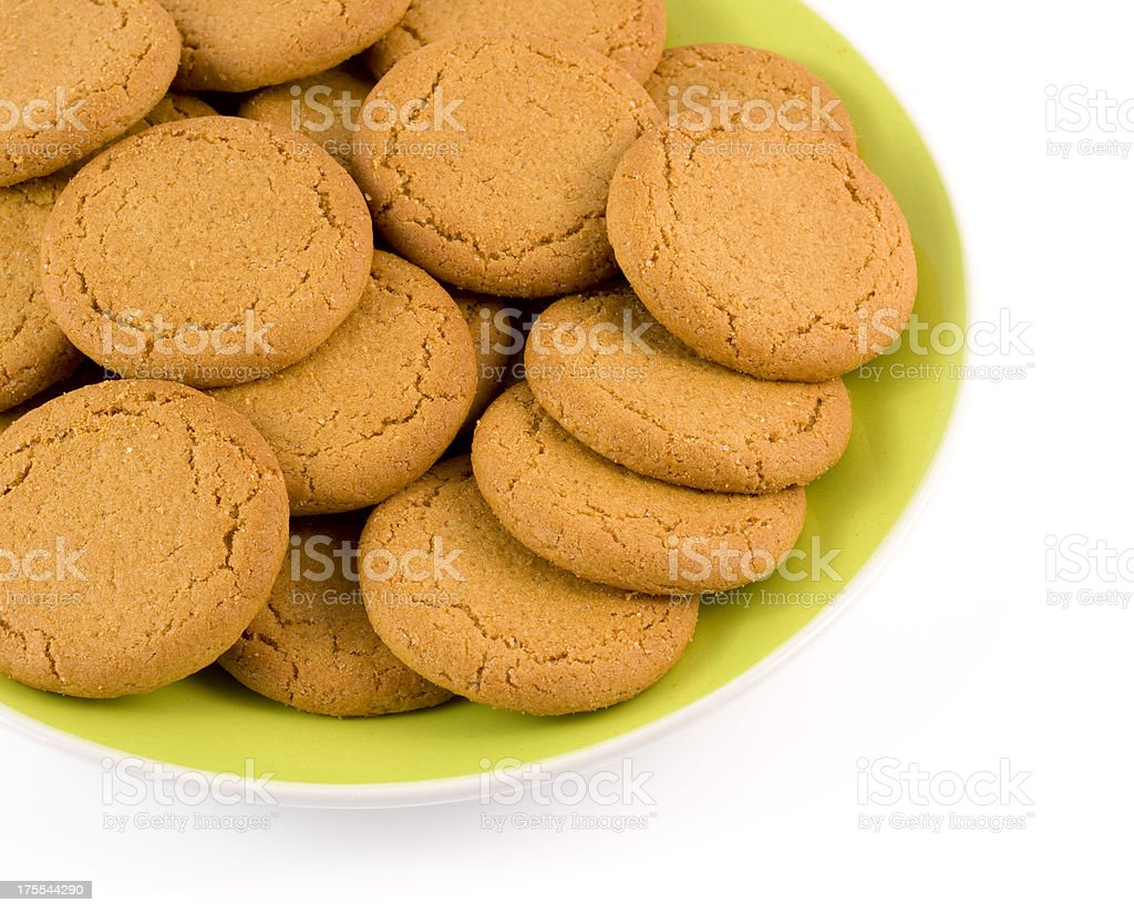 Ginger biscuits close-up stock photo