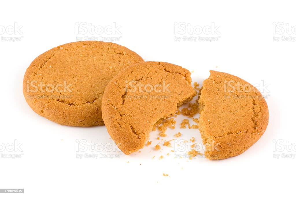 Ginger biscuits stock photo