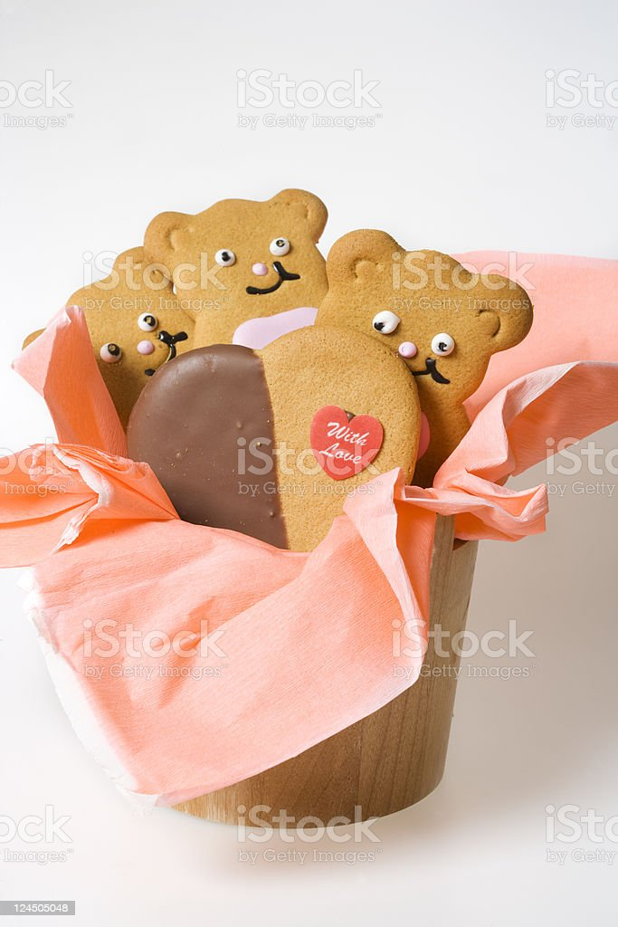 ginger bread cookie gift royalty-free stock photo