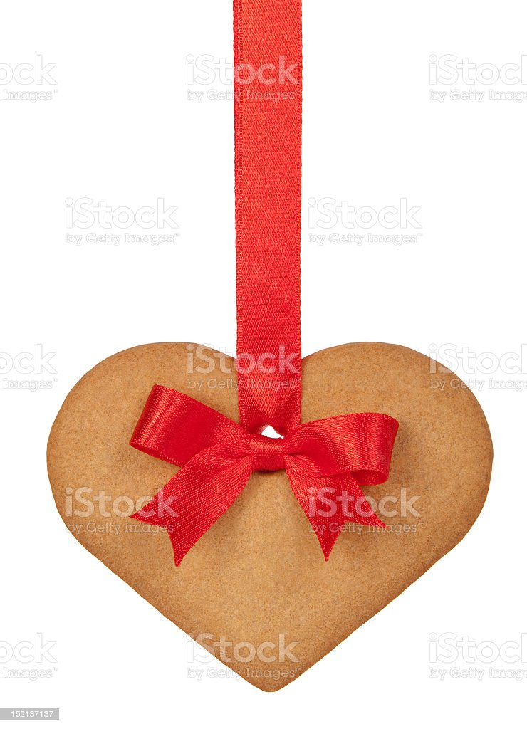 Ginger bread heart royalty-free stock photo
