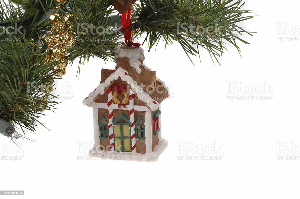 Ginger Bread House Ornament royalty-free stock photo