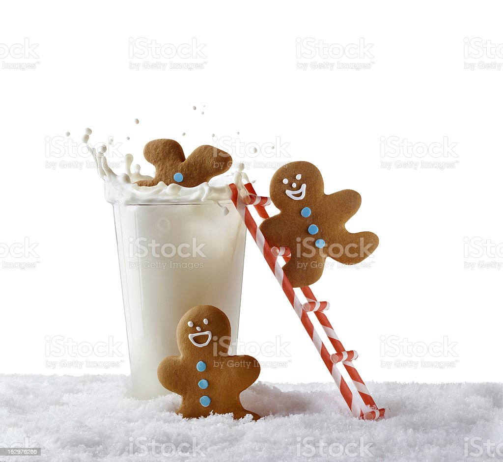 Ginger Bread Man Cookies stock photo