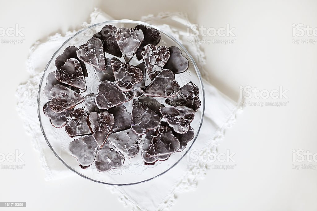 Ginger cake on a plate royalty-free stock photo
