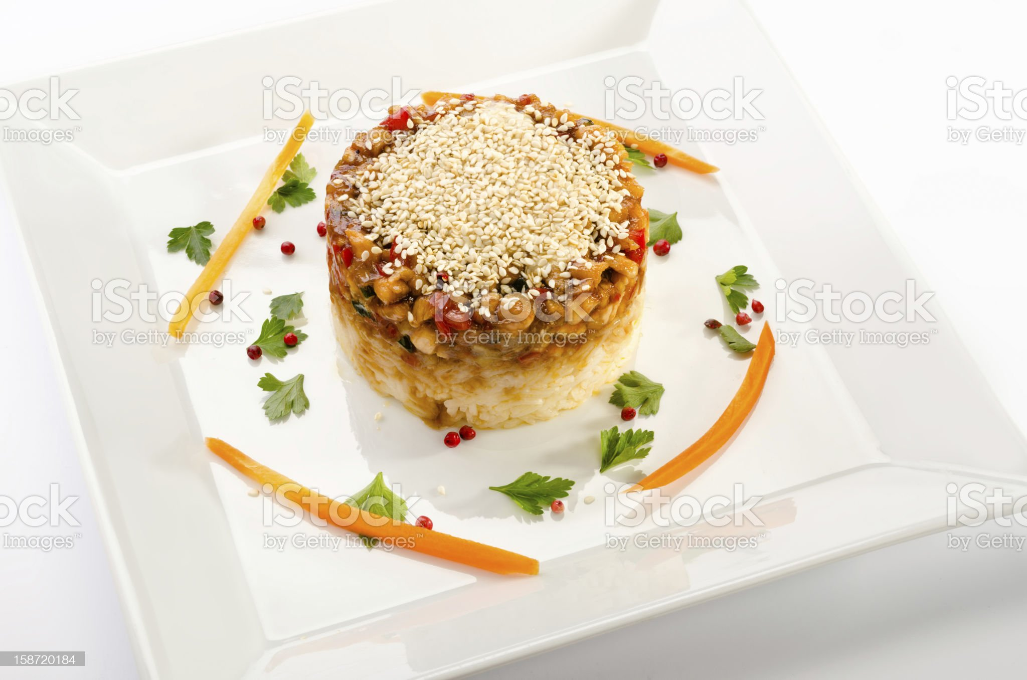 Ginger chicken royalty-free stock photo
