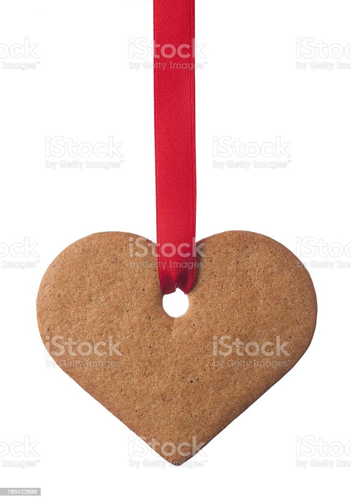Ginger cookie heart stock photo